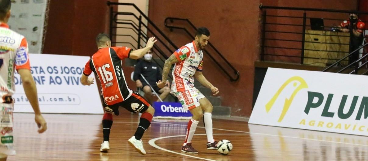 Cascavel Futsal  vai enfrentar o Minas em Belo Horizonte na próxima quarta-feira