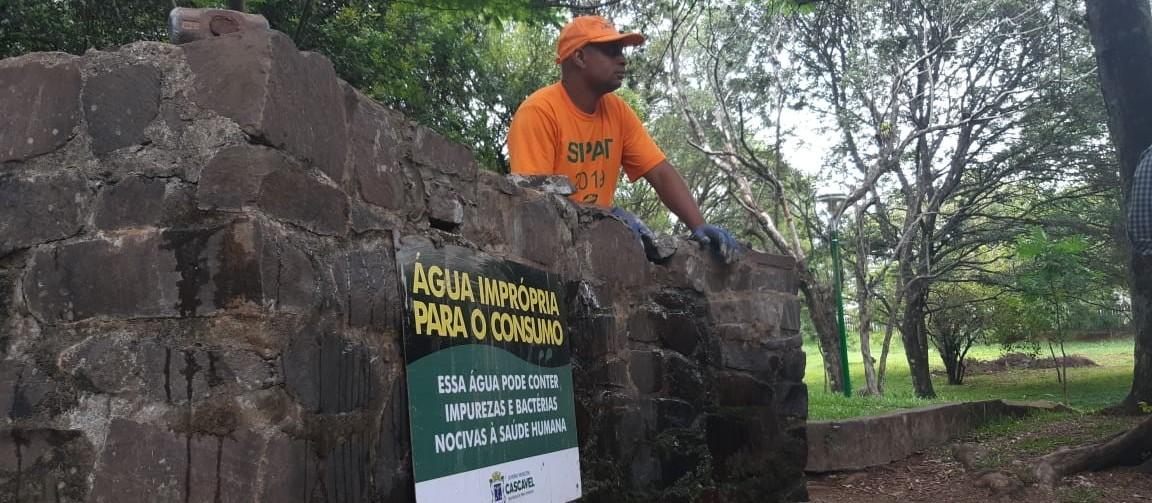 Secretaria inicia restrição na captação de água de fontes