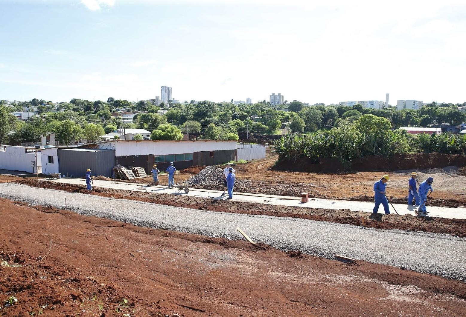 Obras do Ecopark Santa Cruz seguem a todo vapor