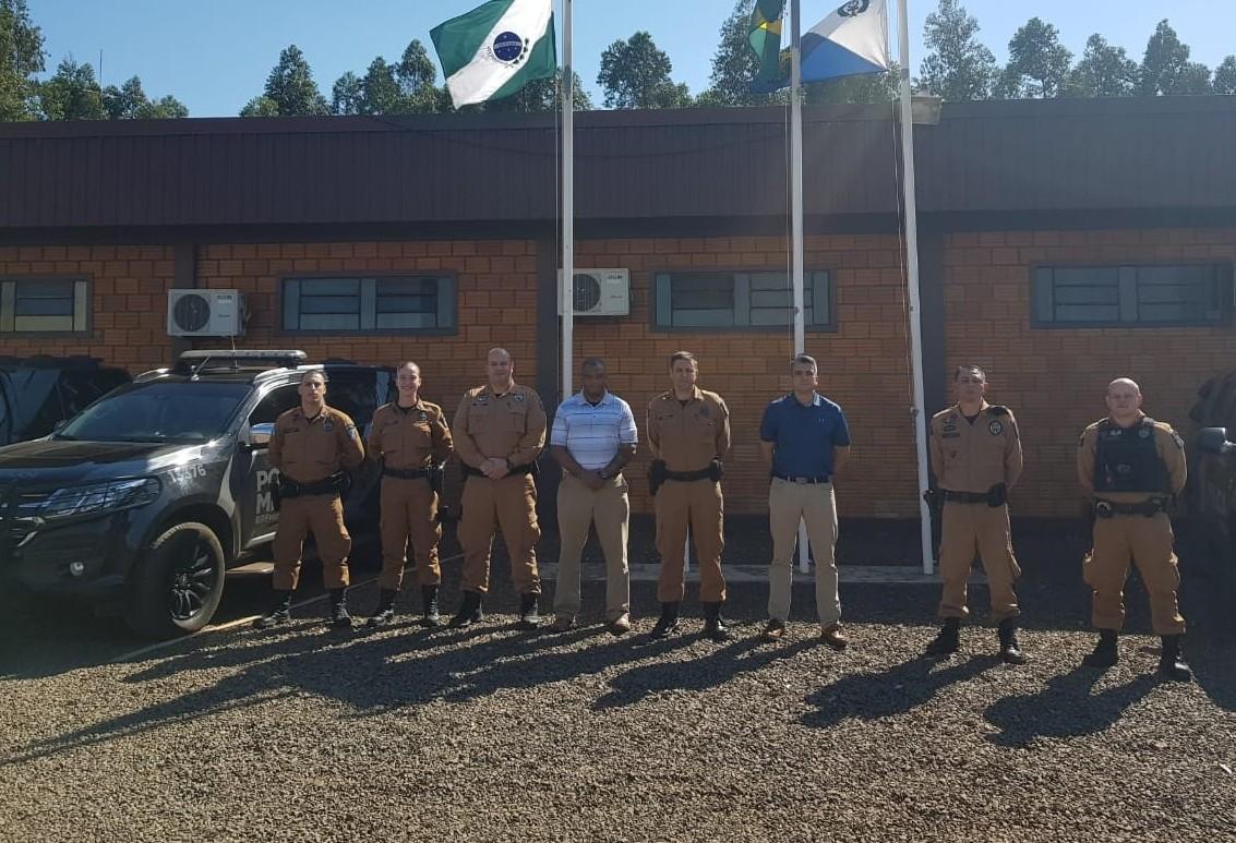Integrantes da Embaixada Americana visitam sede do Batalhão de Polícia de Fronteira em Marechal Cândido Rondon