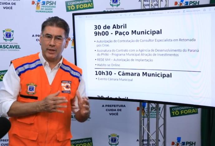 Prefeito de Cascavel  anuncia pacote de retomada econômica