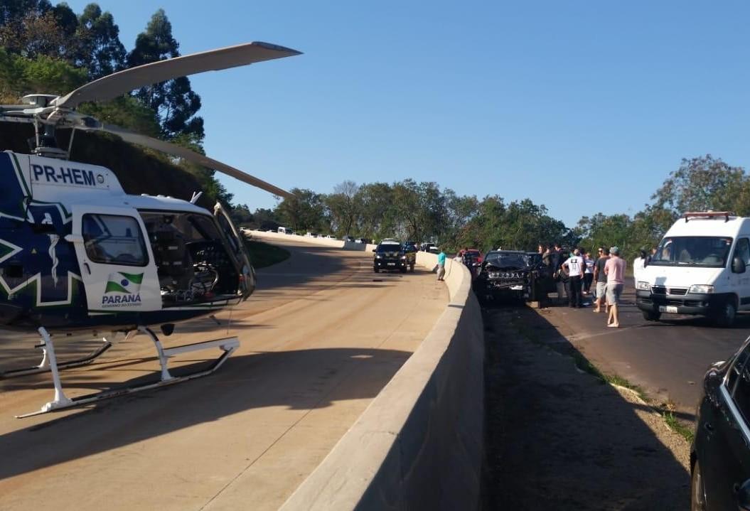 Vítima fica em estado grave em acidente na BR-163