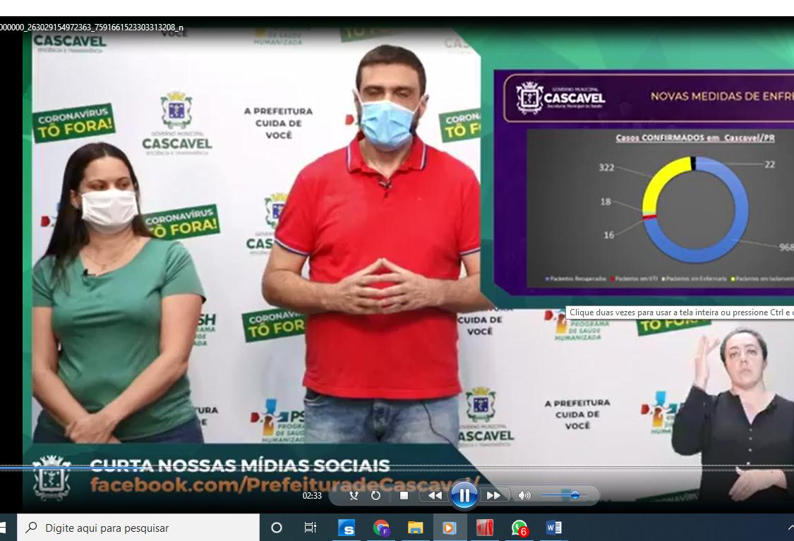 Cascavel apresenta novas medidas de enfrentamento a Covid-19 na rede assistencial