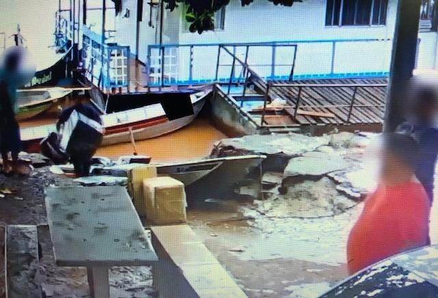 Contrabandistas montaram porto clandestino em terreno da prefeitura