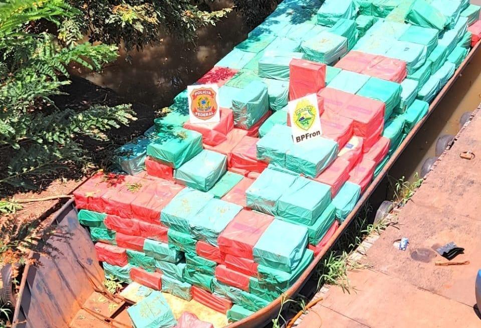 Mais de R$ 1,5 milhão em cigarros, recolhidos na Fronteira