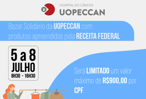 Uopeccan realiza bazar com produtos apreendidos pela Receita Federal