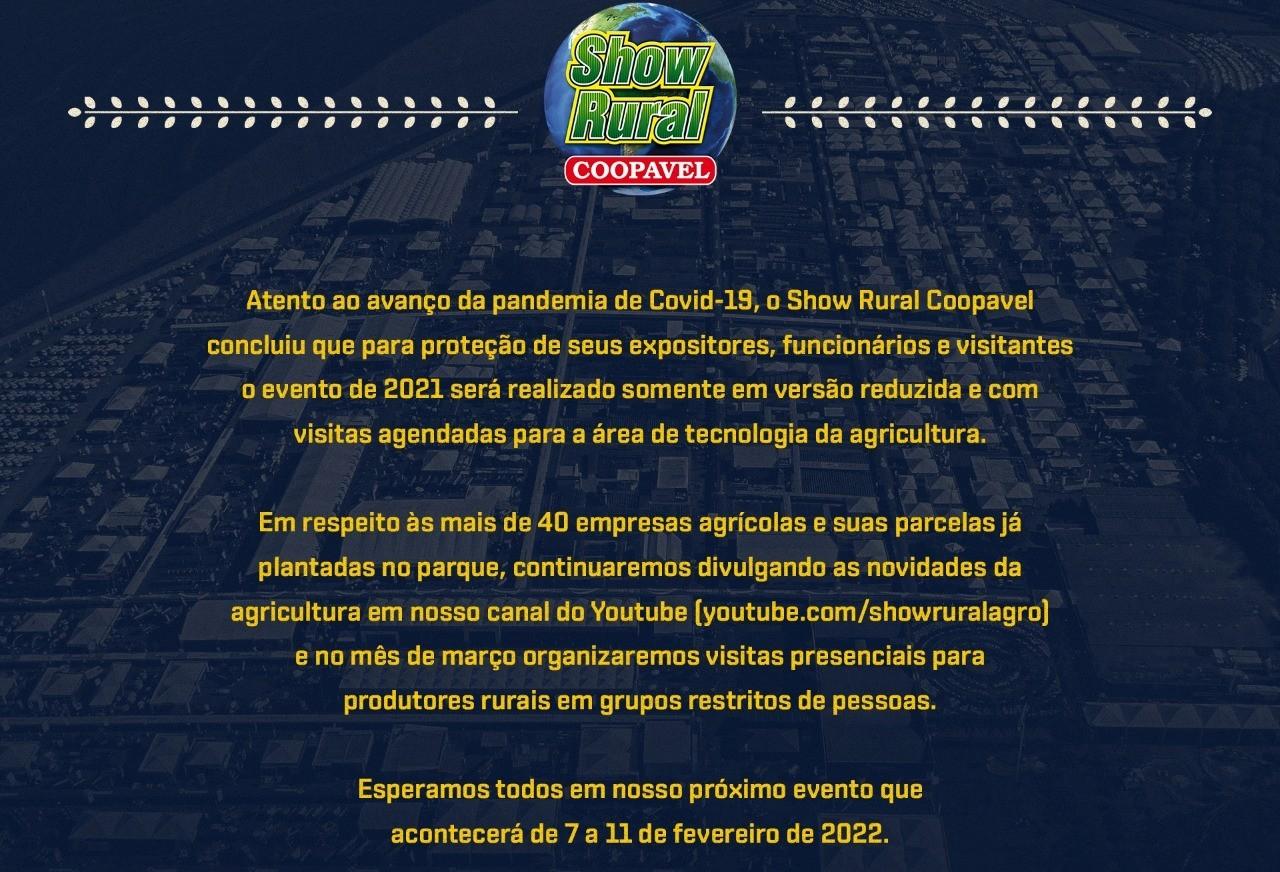 Show Rural: visitas agendadas e apresentações virtuais