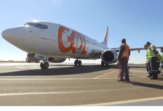 Gol realiza voo inaugural em Cascavel