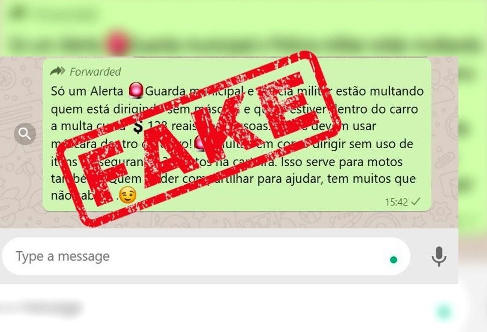 Cettrans/Transitar esclarece: é Fake News a mensagem que rende multa de trânsito a falta de máscara