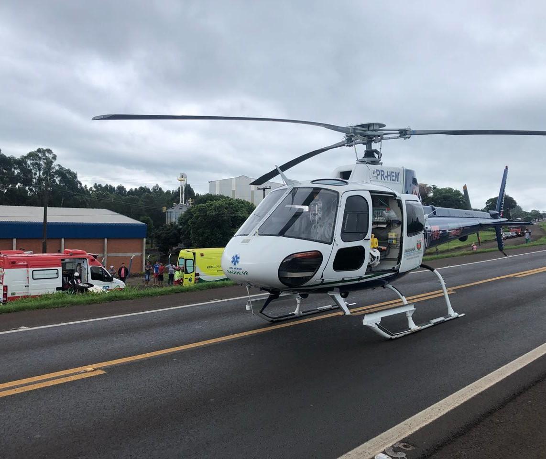 Serviço aeromédico completa 6 anos em Cascavel