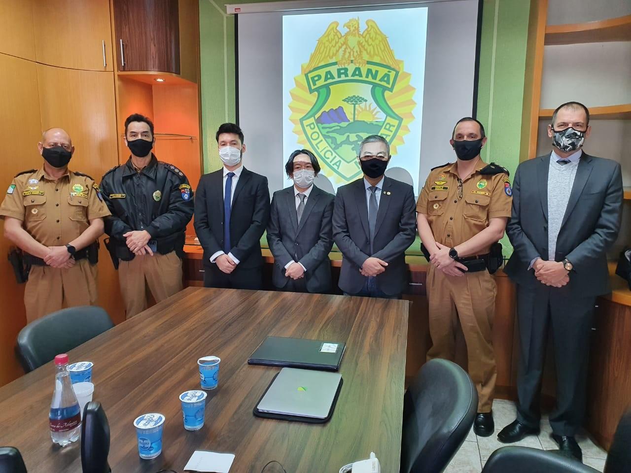 Deputado recebe comitiva Japonesa para apresentar tecnologia única para a Segurança Pública