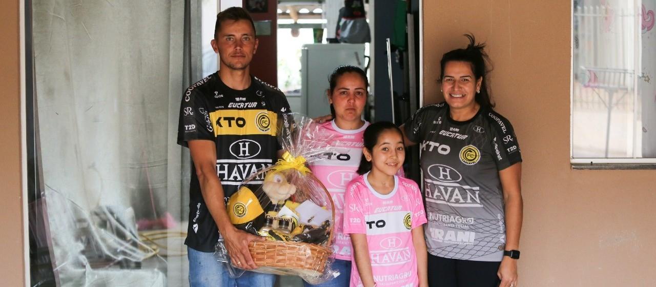 FC Cascavel apoia campanha de arrecadação de fundos para tratamento da pequena Nicoli