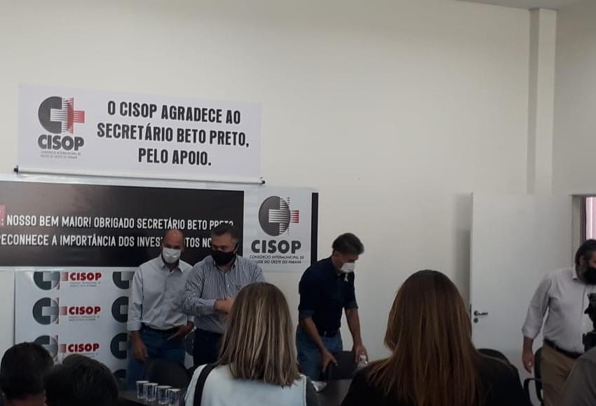 Secretário de Saúde, Beto Preto, visita Cisop em Cascavel