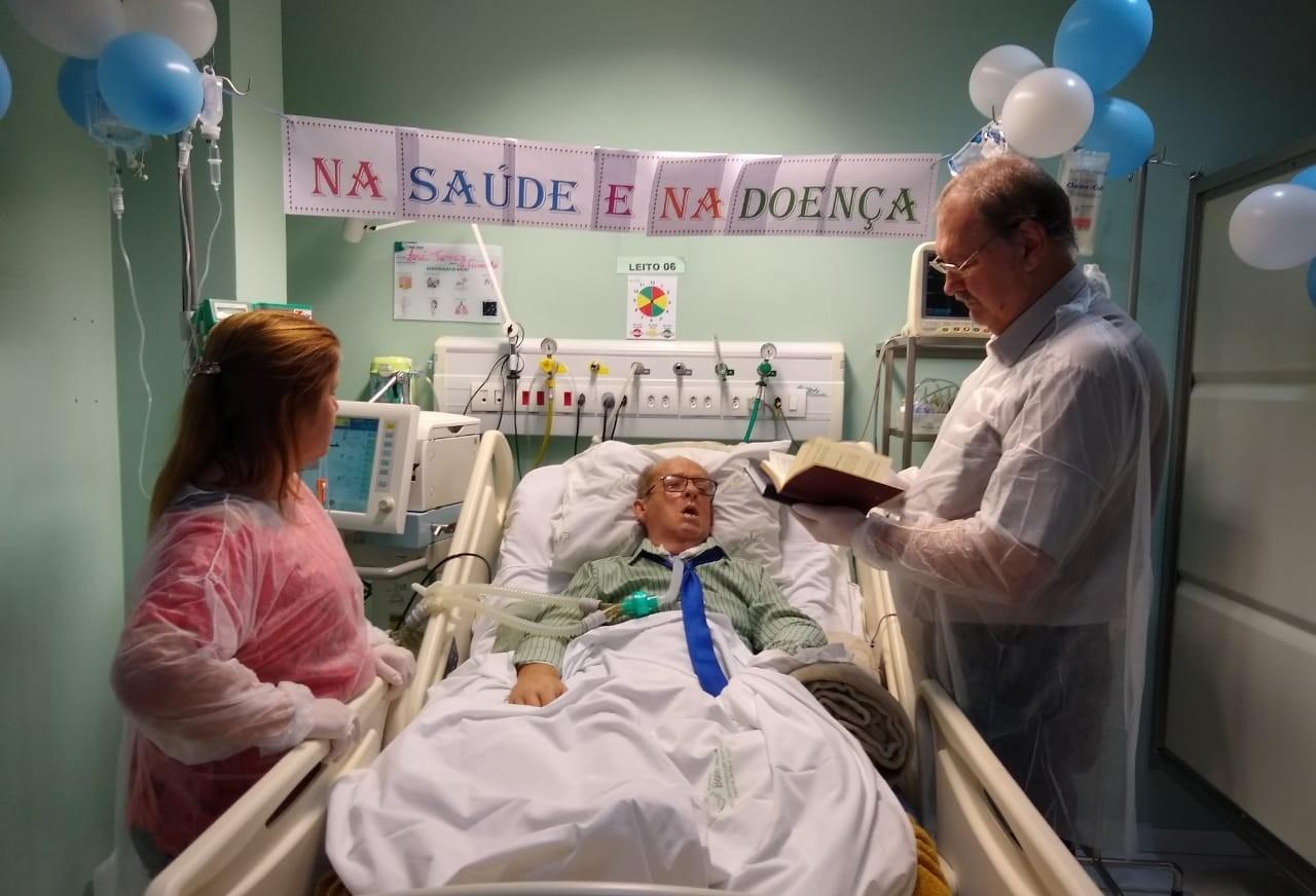 Hospital Bom Jesus promove primeiro casamento em UTI