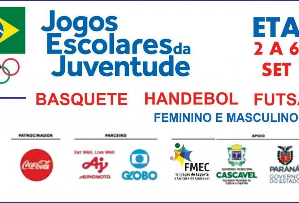 Cascavel recebe etapa regional dos Jogos Escolares da Juventude 2019