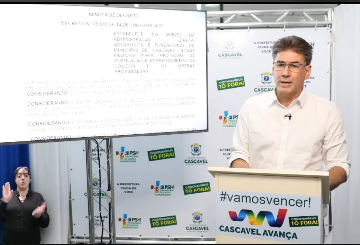 Paranhos anuncia novo decreto  em Cascavel