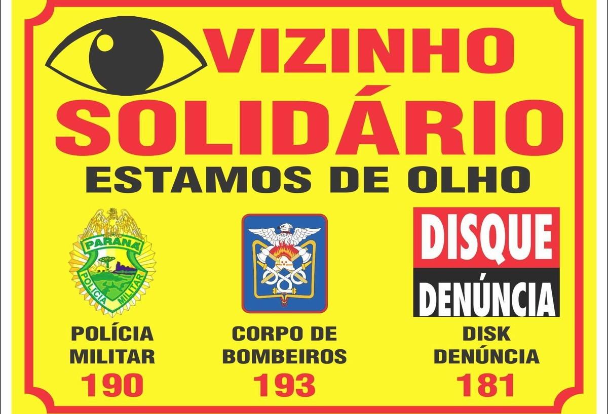Projeto Vizinho Solidário no bairro  Cascavel Velho