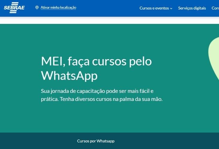 Empreendedores têm 15 opções de cursos gratuitos do Sebrae pelo WhatsApp