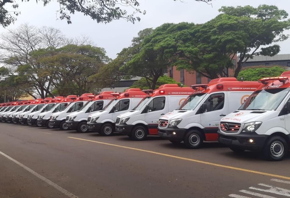 31 novas ambulâncias são entregues ao Consamu