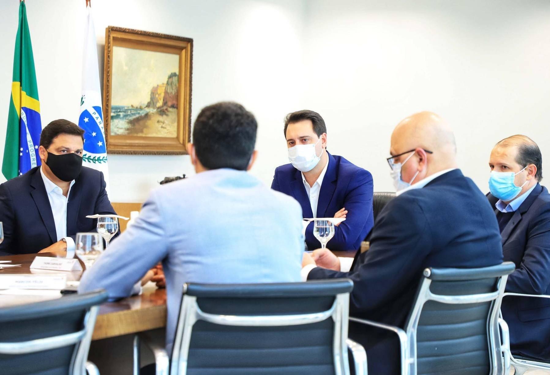 Governador recebe comitiva federal que ajuda a viabilizar a Nova Ferroeste