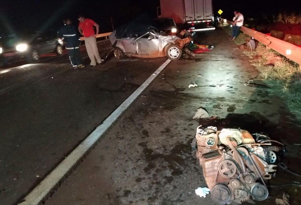Homem morre em grave acidente, que envolveu quatro veículos, em Corbélia