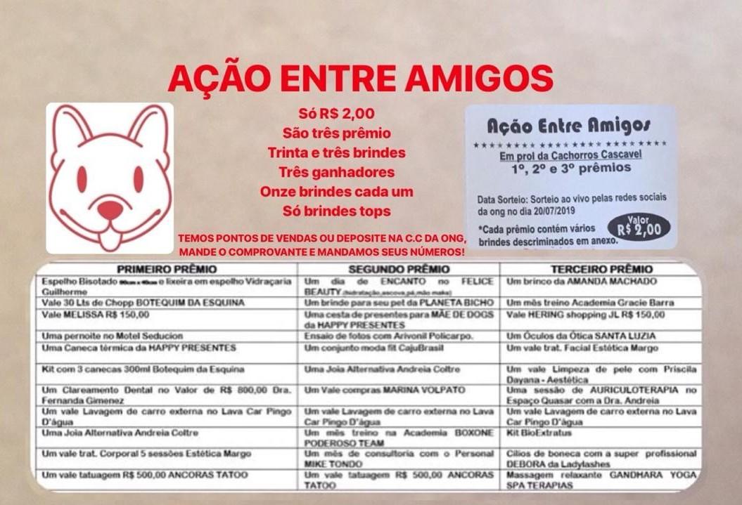 ONG faz rifa para pagar despesas com resgates de animais