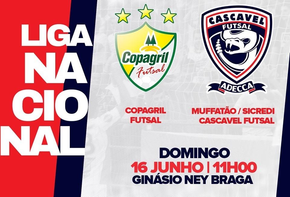 Cascavel Futsal enfrenta Copagril neste domingo
