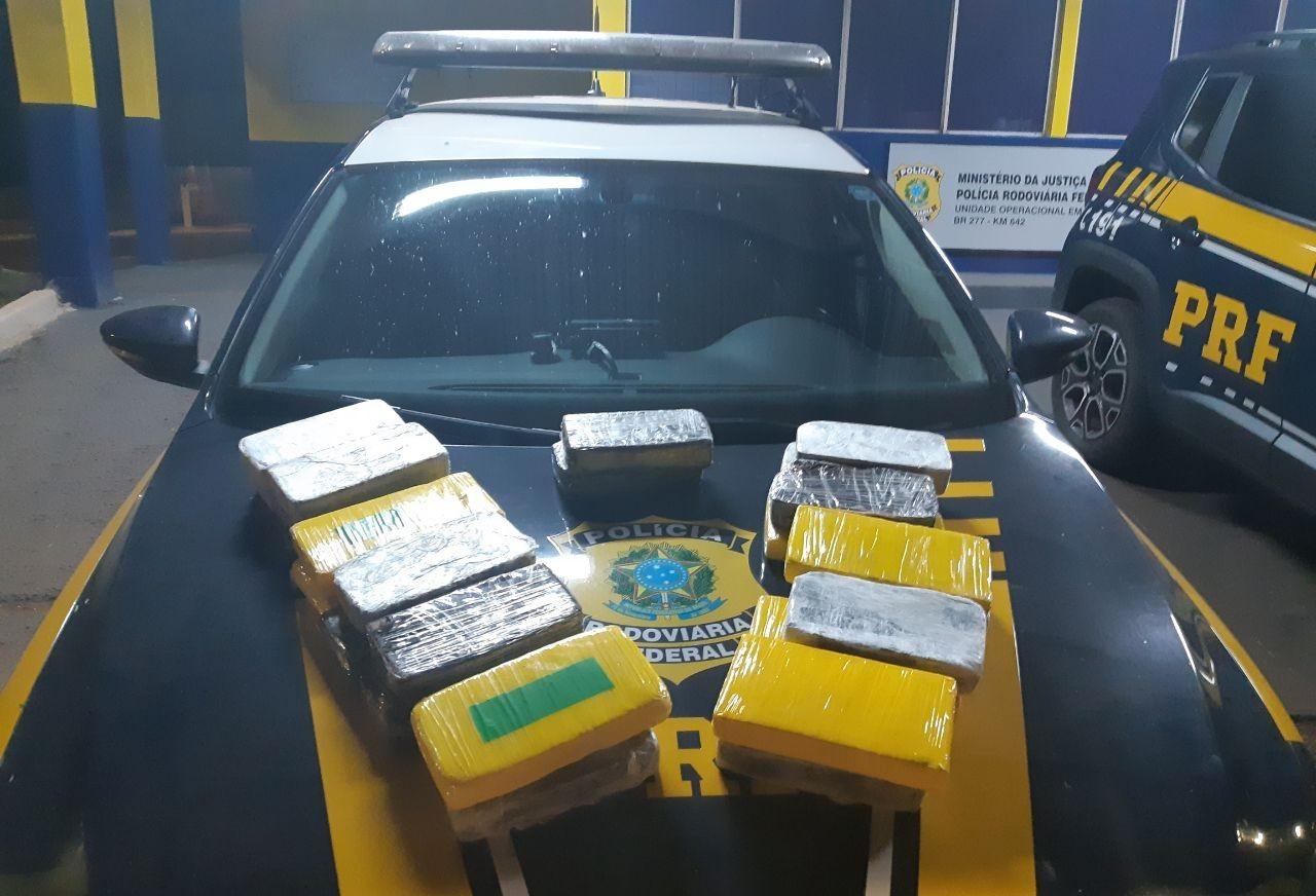PRF apreende 24,4 kg de cocaína em Céu Azul