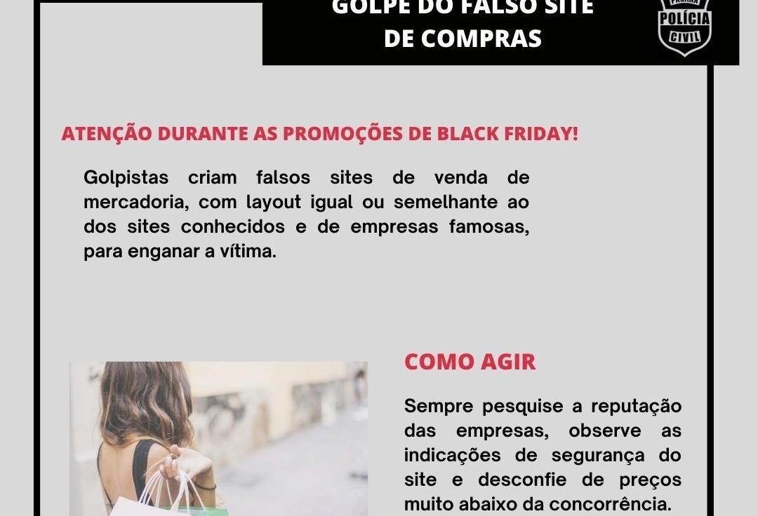 Polícia Civil alerta sobre golpe do falso site de compras