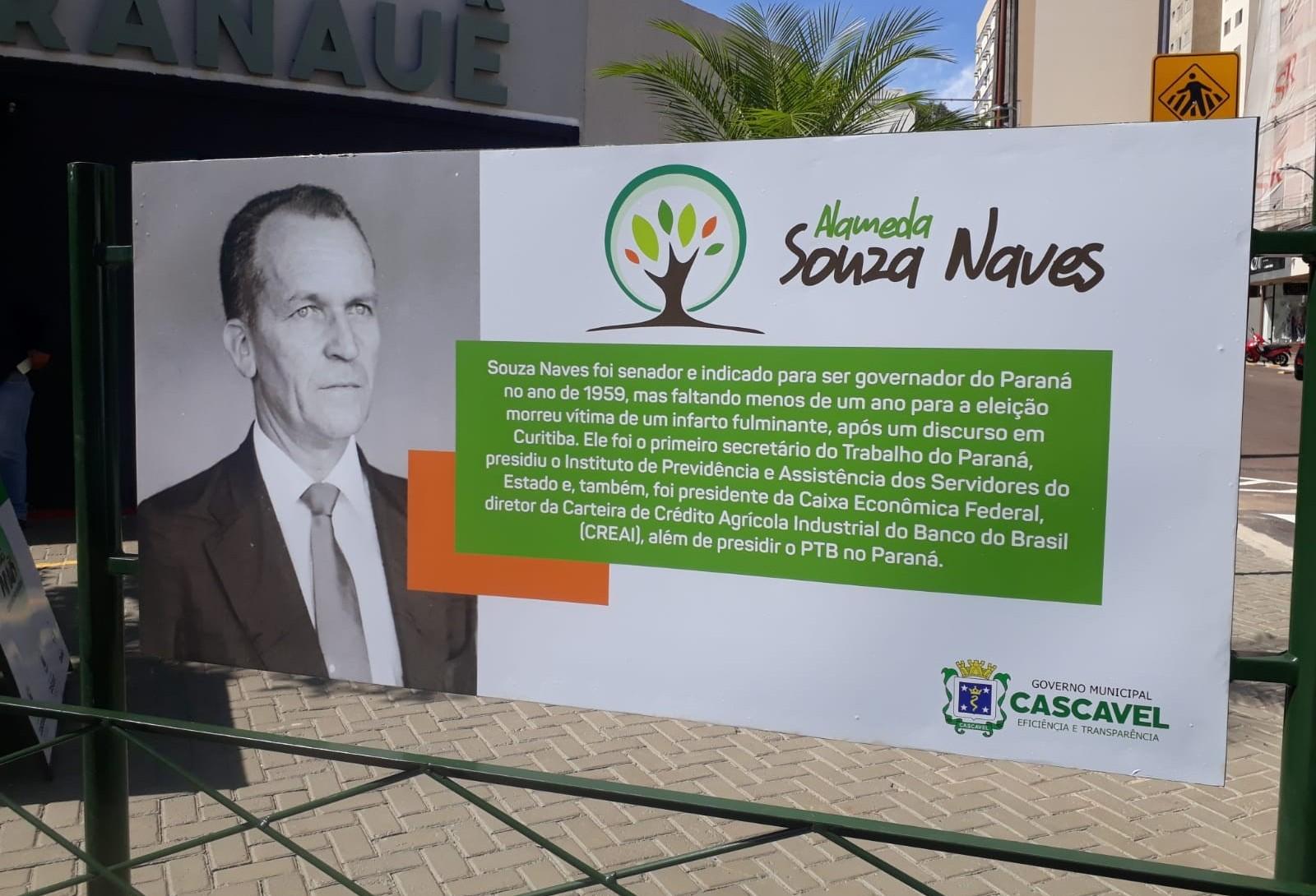 Entregue revitalização da  Alameda Souza Naves